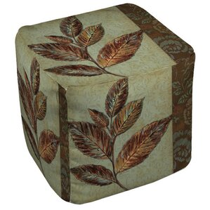 Golden Leaf 1 Ottoman by Manual Woodworkers & Weavers