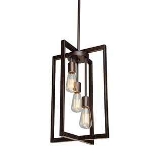Clingman 3-Light Square/Rectangle Pendant by Brayden Studio
