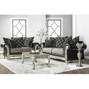 House of Hampton Meachum Ebony Configurable Living Room Set