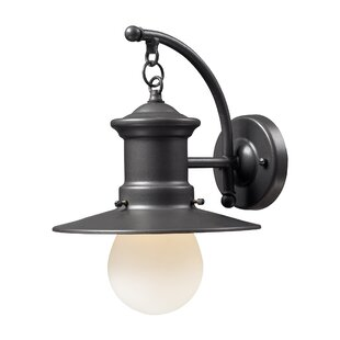 Online Reviews Garren 1-Light Outdoor Barn Light By Breakwater Bay
