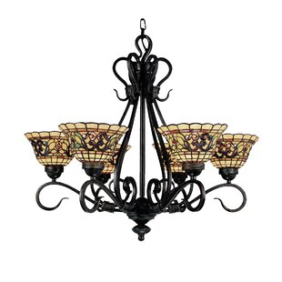 Fleur De Lis Living Barksdale 6-Light Shaded Chandelier