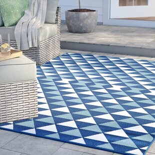 Amora Hand-Woven Blue Indoor/Outdoor Area Rug