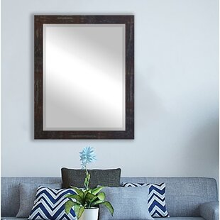 Inexpensive Katalina Industrial Wall Mirror ByBungalow Rose