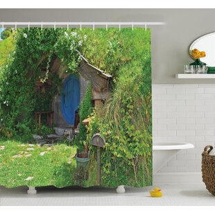 Hobbits Fantasy Hobbit Land House Shower Curtain By Ambesonne