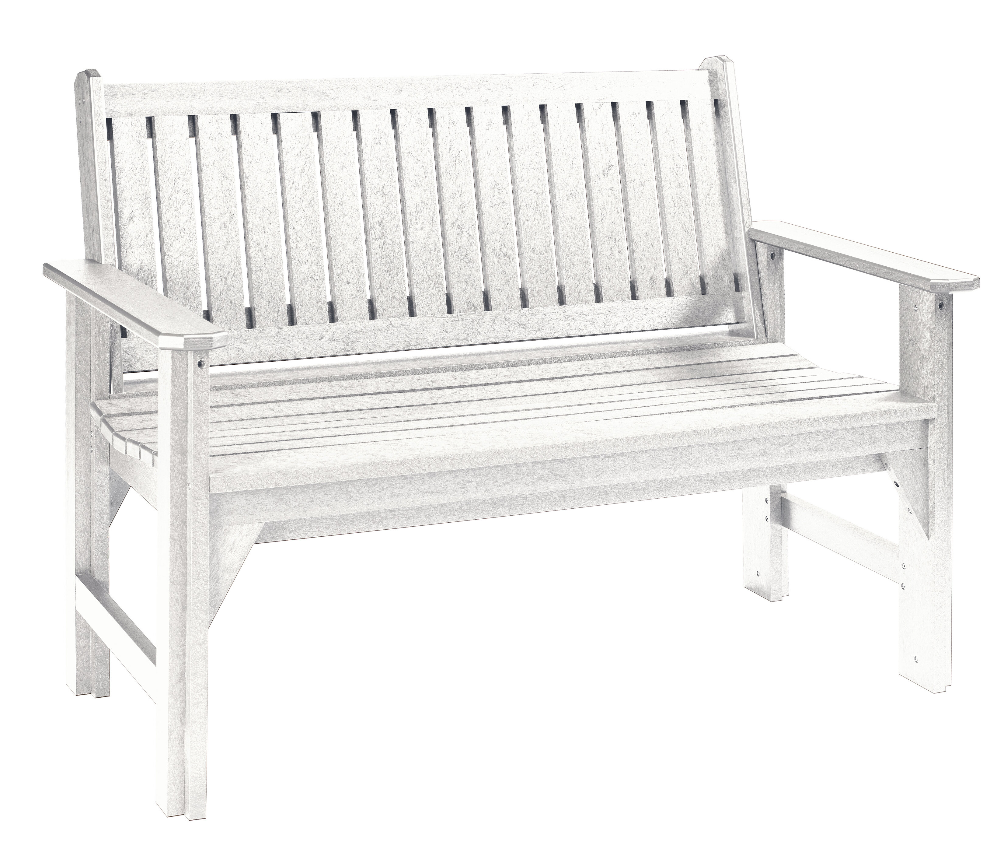 asp bench garden white wooden back high p