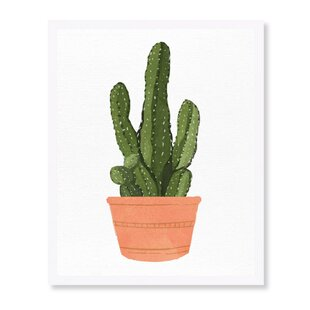 Cactus Coral III Framed Graphic Art Print