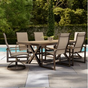 Alessa 7 Piece Sunbrella Dining Set