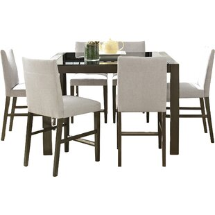 Wade Logan Girard 7 Piece Counter Height Dining Set