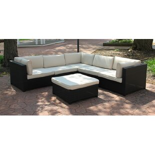 Northlight Seasonal 6 Piece Sectional Set with Cushions