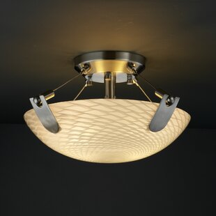 Brayden Studio Miguelangel 2-Light Semi Flush Mount