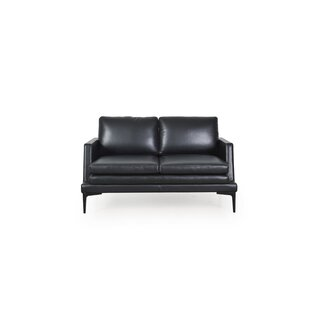 Arteaga Leather Loveseat by Brayden Studio New