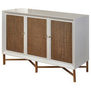 Courter 3 Drawer Woven Door Credenza George Oliver