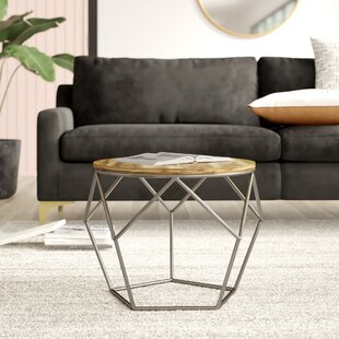 Lauer Geometrical Metal End Table by Mercury Row