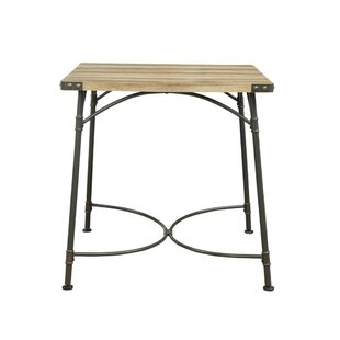 Calvo Industrial Square Shaped Counter Height Solid Wood Dining Table
