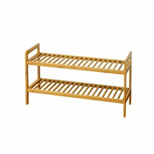 Reviews Bamboo 2-Tier Shoe Rack By The Urban Port