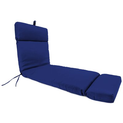 French Edge Indoor/Outdoor Chaise Lounge Cushion Fabric: Veranda Cobalt by Alcott Hill