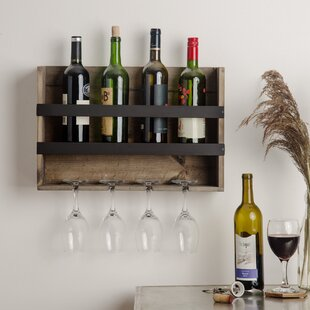 Cooks 4 Bottle Wall Mounted Wine Rack