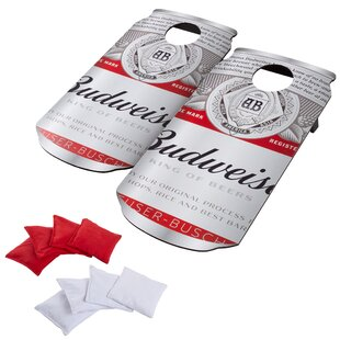 1.58' x 3.08' Budweiser Manufactured Wood Cornhole Board by Hey! Play!