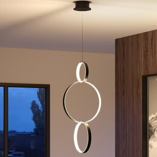 Doveton 3-Light LED Geometric Chandelier by Wade Logan