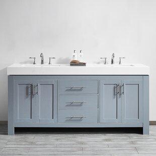 Neva 72 Double Bathroom Vanity Set by Wrought Studio