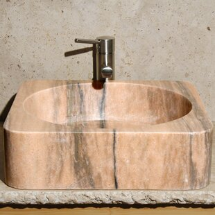 Deals Stone Square Vessel Bathroom Sink ByAllstone Group