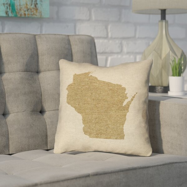 ArtVerse Katelyn Smith Texas Watercolor 16 x 16 Pillow-Faux Linen Double Sided Print with Concealed Zipper /& Insert Updated Fabric