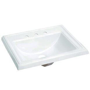 Kingston Brass Concord Vitreous China Rectangular Drop-In Bathroom Sink with Overflow