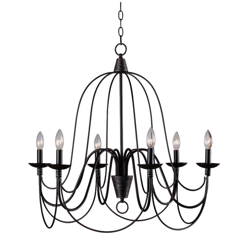 Ophelia Co Kollman 6 Light Chandelier Reviews