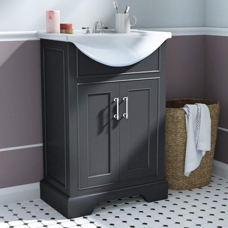 Andover Mills Yuri 24 Single Bathroom Vanity Set Reviews Wayfair