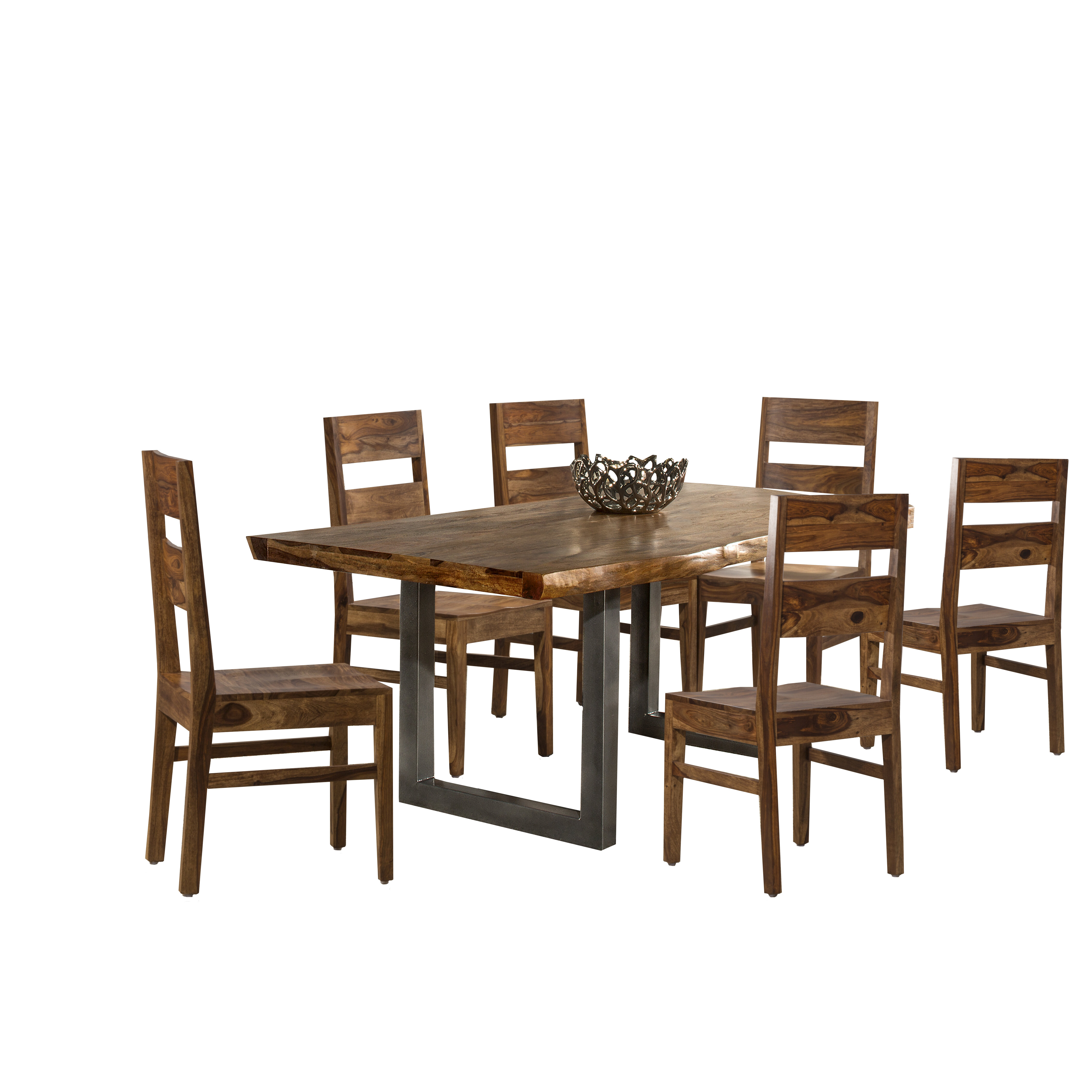 Mistana Lonan 7 Piece Solid Wood Dining Set Reviews Wayfair
