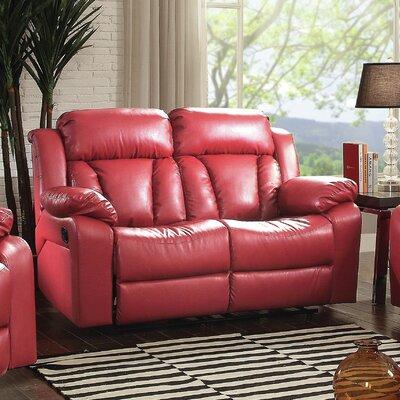 Red Barrel Studio Barnstormer Leather Loveseat & Reviews | Wayfair