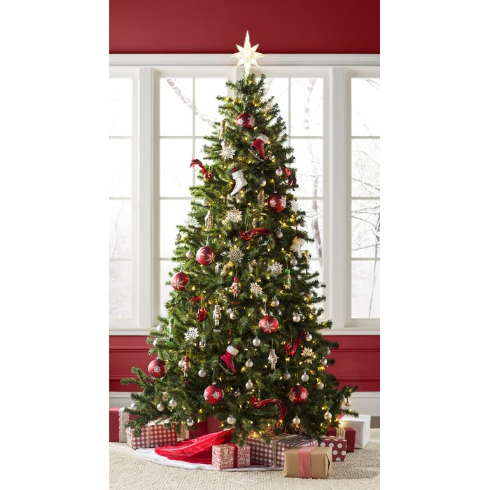 Christmas Tree With Lights.Green Spruce Artificial Christmas Tree With Warm White Lights