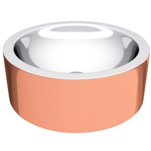 ANZZI Titan Metal Circular Vessel Bathroom Sink