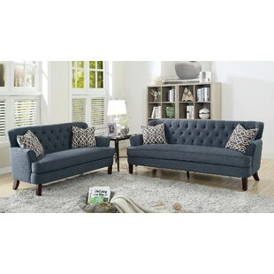 Alcott Hill Metcalfe 2 Piece Living Room Set