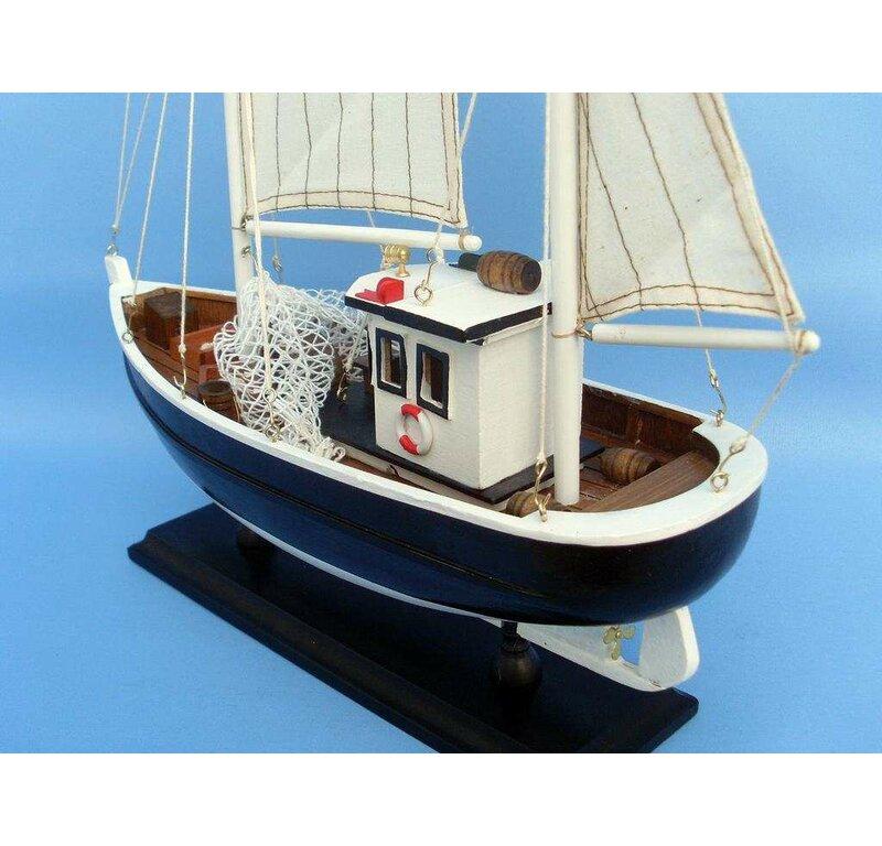 Keel Over Fishing Model Boat