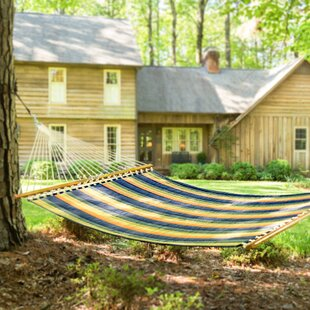 Joey Large Striped Quilted DuraCord Tree Hammock