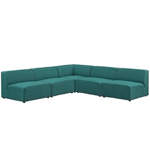 Crick 5 Piece Upholstered Sectional Sofa