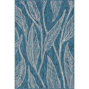 Kwiatkowski Blue/Beige Indoor/Outdoor Area Rug