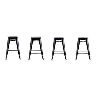 Leer 30 Bar Stool (Set of 4) Brayden Studio
