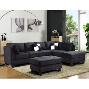 sc 1 st  Wayfair : sectional sofa black - Sectionals, Sofas & Couches