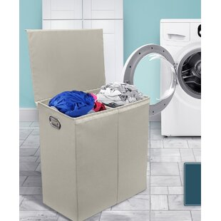 Ebern Designs Divider Double Sorter Foldable Laundry Sorterwith Lid Closure