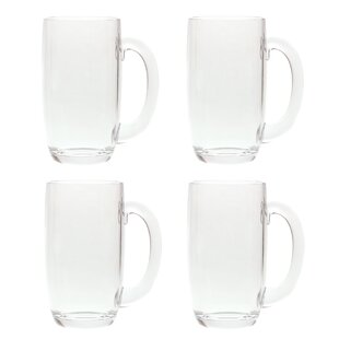 South Lamar 21 oz. Acrylic Plastic Drinking Beer Mug (Set of 4)