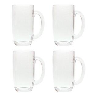 South Lamar 21 oz. Acrylic Plastic Drinking Beer Mug (Set of 4)