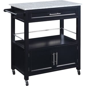 Byard Kitchen Cart with Granite Top by Red Barrel Studio