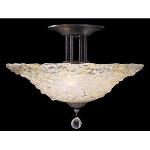 Framburg Rhapsody 3-Light Semi Flush Mount