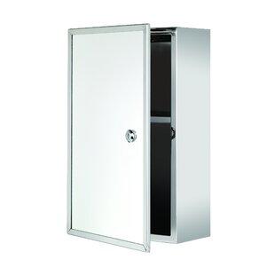 Reviews Rommel Lockable 9.8 x 15.7 Surface Mount Framed Medicine Cabinet ByWrought Studio