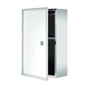 Rommel Lockable 9.8 x 15.7 Surface Mount Medicine Cabinet by Wrought Studio
