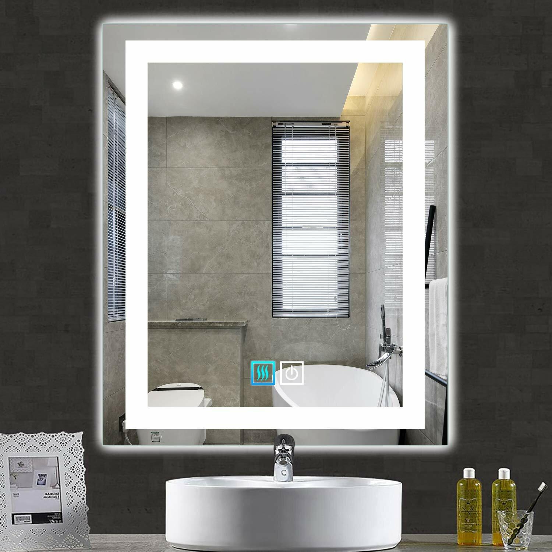 Rectangular Wall Mounted Commercial Grade Led Side Lighted Bathroom Vanity Mirror 32 Wide X 44 Tall Pinnacleoilandgas Com