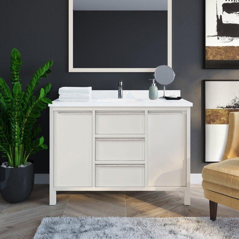 Martha Stewart Perry St Hudson 48 Single Bathroom Vanity Set Wayfair