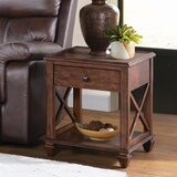 Audley Solid Wood End Table with Storage by Loon Peak®